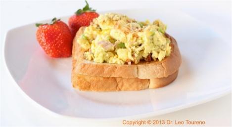 Hearty scrambled eggs