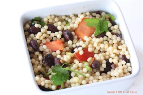 Black Bean Acini di Pepe Salad