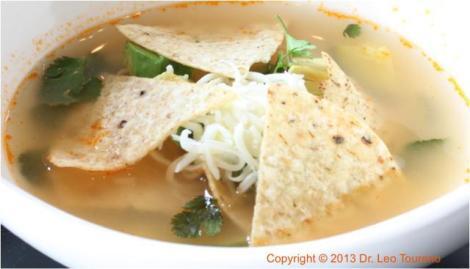 Tortilla in soup