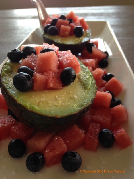 Avocado Watermelon blueberry